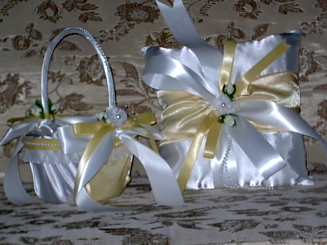 Item 1226 Flower Girl Basket satin