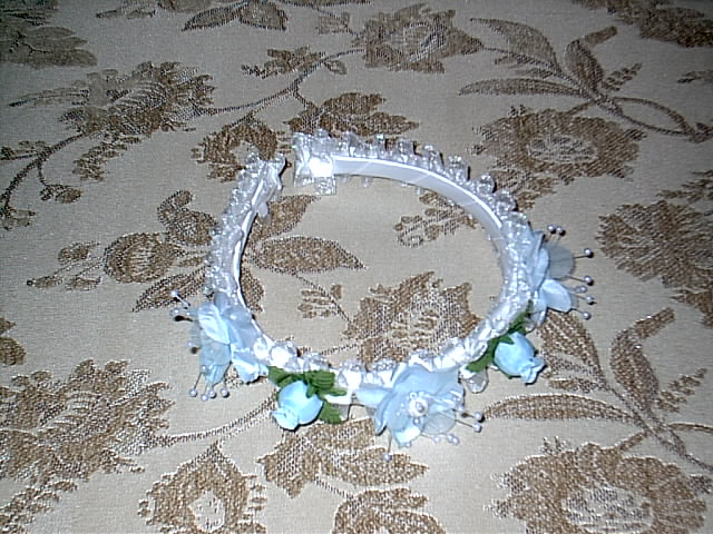 Item 281 sky blue headpiece